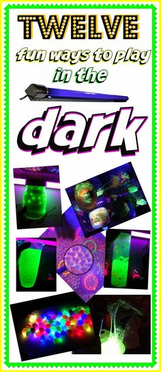 We love glow in the dark and black light play! Here are 12 fun posts from some of our favorite glow in the dark and black light play times! Fun Crafts For Kids, Craft Activities For Kids, Sensory Activities, Sensory Play, Kids Fun, Science Week, Finger Lights, Sensory Boxes, 10th Birthday Parties