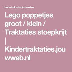 Lego poppetjes groot / klein / Traktaties stoepkrijt   Kindertraktaties.jouwweb.nl