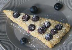 Gesund, vegan und ohne Zucker - Haferflocken Scones mit Blaubeeren