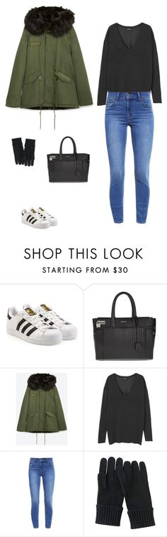 """""""Sans titre #7333"""" by youngx ❤ liked on Polyvore featuring adidas Originals, Zadig & Voltaire, Zara, Monki, Levi's and Uniqlo"""