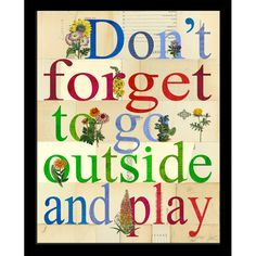 Go Outside And Play Framed Wall Art