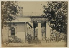 Arlington House,  former residence of Gen. Robert E. Lee photographed by Andrew J. Russell on June 29, 1864.