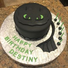 Toothless birthday cake from How To Train Your Dragon