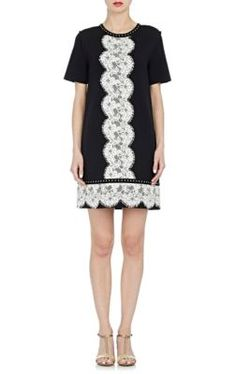 Lanvin Lace-Embellished Shift Dress at Barneys New York