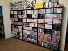 Love Bookshelf, Bookshelf Design, Room Ideas Bedroom, Bedroom Decor, Comic Book Storage, Man Cave Room, Dream Anime, Otaku Room, Gaming Room Setup