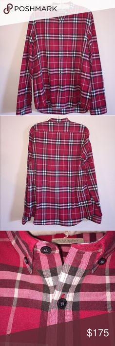 Men's Burberry Plaid Button Down Long Sleeve Size XXL. Great condition, dry cleaned only.  Feel free to ask any questions! No trades sorry, & offers thru the offer button only!xx... Burberry Shirts Casual Button Down Shirts
