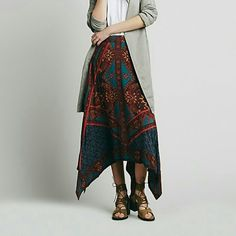 Free people traveler skirt Brand new with tags.  $60 ON MERC  PRICE IS FIRM Free People Skirts