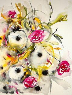 New Autumn Field II | Karin Johannesson Contemporary Watercolour