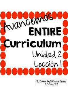 Avancemos 1 Unit 1 Lesson 2 ENTIRE Chapter Curriculum   Curriculum ...