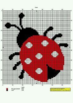 Cross Stitch --- convert to Bead Stitch Cross Stitch For Kids, Cross Stitch Baby, Cross Stitch Animals, Cross Stitch Charts, Cross Stitch Designs, Cross Stitch Patterns, Cross Stitching, Cross Stitch Embroidery, Embroidery Patterns