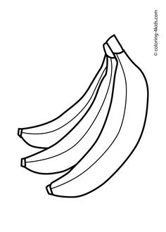 Banana pattern. Use the printable outline for crafts
