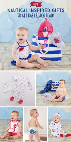 From beach totes to bathing suits, get baby beach ready with the cutest nautical gifts! ⚓