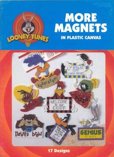 Looney Tunes More Magnets   plastic canvas book      by puddinpop, $9.95