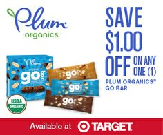 Save $1.00 off any one Plum Organics GO BAR box at Target - A Frugal Mom | A Frugal Mom