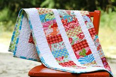 Amy Butler Coin Quilt by naturemomm, via Flickr