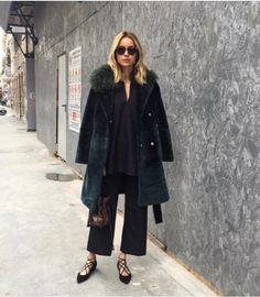 Hege Aurelie in Venezia Tunic and Chambéry Trousers http://www.toteme-nyc.com/shop/ss16/chambery-trousers?color=black
