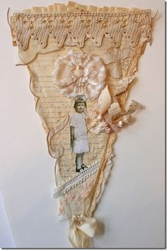 "banner - vintage lace, photo, flower by ""Lori Oles"" , maybe I should try a monochromatic banner..."