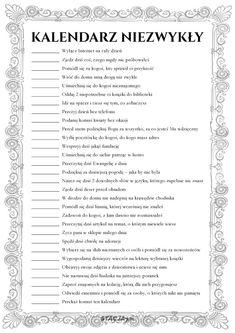 30 zadań, które urozmaicą zwykłe dni   Stacja7.pl Organization Of Life, Good Habits, Bullet Journal Inspiration, Better Life, Self Improvement, Hand Lettering, Back To School, Love You, Challenges