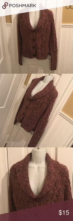 "LOFT cardigan Button front. About 25"" long. LOFT Sweaters Cardigans"