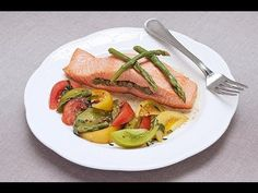 Asparagus-Stuffed Salmon by chef Chris Leahy