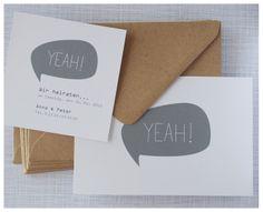 Einladungskarten - ♥ Y E A H ! ♥ ♥ ♥ ♥ - ein Designerstück von ene-mene-mu bei DaWanda