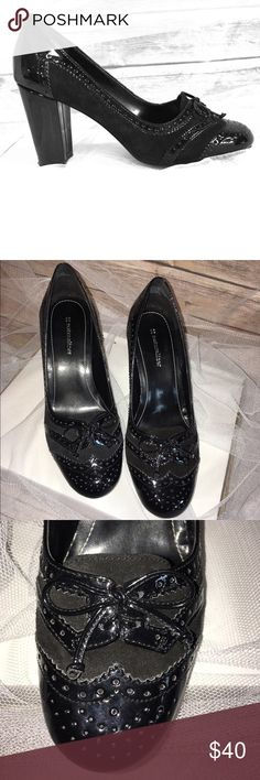 Naturalizer loafer heels Brand new condition, patent leather and suede Naturalizer Shoes Heels