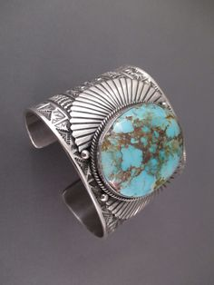 Sunshine Reeves Bracelet - Large Royston Turquoise Cuff Bracelet by Navajo jewelry artist, Sunshine Reeves $1,550-
