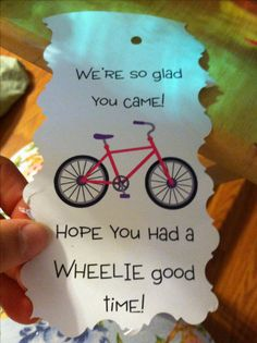 Water bottle label for bicycle birthday party