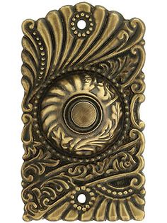 Roanoke Doorbell Button in Antique-By-Hand Finish from house of antique hardware Antique Hardware, Home Hardware, Dream Furniture, Door Furniture, Doorbell Button, Steampunk House, Buzzer, Gothic House, Retro Vintage