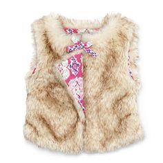 Faux fur vest, $18 by Little Maven