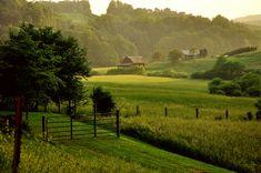 Appalachian Countryside - Farming Country - Glady Creek Road, Lewis County, West Virginia