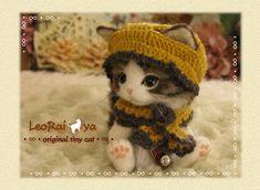LeoRai*ya/羊毛フェルト猫/テディベア風にゃんこ/ハンドメイド_1