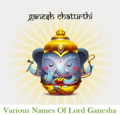 Various Names Of #LordGanesha - http://bit.ly/1Orng1y    #ganeshchaturthi #ganpati #jaiganesh #interestingfacts