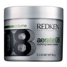 Redkin Aerate 09 cream-mousse. The best thing I've found for my baby fine hair. A little goes a long way.