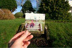 あの日あの時あの人はそこにいた!昔の写真と、現在の風景を照らし合わせて撮影したステキな写真