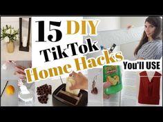 (73) Testing 15 Viral TikTok Life Hacks & DIY Hacks + 15 Home Hacks that Work! - YouTube Life Hacks Home, Home Decor Hacks, Simple Life Hacks, Useful Life Hacks, Home Crafts, Diy And Crafts, Hacks Diy, Diy Organization, Diy Craft Projects