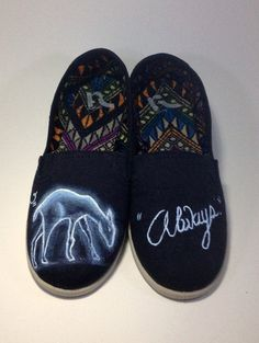 Women's size 8.5 Hand Painted Canvas Shoes on Etsy, $50.00