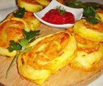 Ślimaczki francuskie marchewkowo-serowe