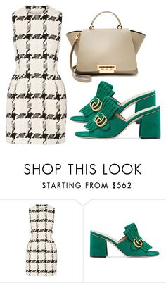 """""""Sin título #3933"""" by evalentina92 ❤ liked on Polyvore featuring Alexander McQueen, Gucci and ZAC Zac Posen"""