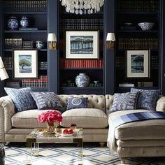 blue interior luxury hotel