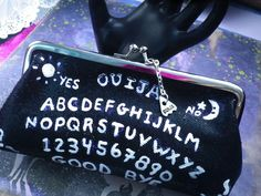 Etsy listing at https://www.etsy.com/listing/155826166/ouija-board-clutch-purse-last-one