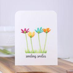 Hop Into Spring – Small Die of the Month Club - Keramik Projekte Watercolor Birthday Cards, Watercolor Cards, Karten Diy, Spellbinders Cards, Small Cards, Greeting Cards Handmade, Easy Handmade Cards, Copics, Card Kit