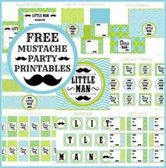 If I ever have a baby boy there will be a mustache themed baby shower!
