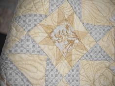 """Pas de Deux is French for """"step of two"""". This pattern treats you to a duo of delightful blocks for one gorgeous creation! Bring the variable star and diamond blocks together to create a quilt that gives the illusion of having intricate Irish Chain detailing. Step-by-step instructions will guide you to finishing this quilt in no time."""
