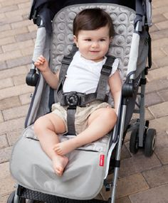 Skip Hop Memory Foam Stroller Liner - Platinum. We'll be needing one of these soon!