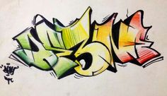 Fresh #graffiti #graffiti sketch Graffiti Words, Graffiti Writing, Graffiti Lettering, Street Art Graffiti, Graffiti Designs, Graffiti Styles, Hand Lettering Fonts, Cool Stickers, Subway Art