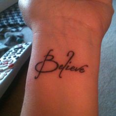 My new tattoo. Lots of changes happening and this is a reminder to myself to believe it will work out.