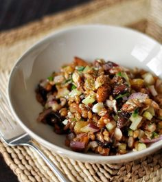 Recipe: Winter Wheat Berry Salad with Figs & Red Onion