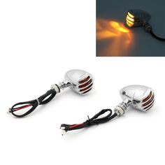 Mad Hornets - Grill Indicator Signals Harley Softail Sportster Dyna Custom Chopper Hot Rod, Chrome, $44.99 (http://www.madhornets.com/grill-indicator-signals-harley-softail-sportster-dyna-custom-chopper-hot-rod-chrome/)