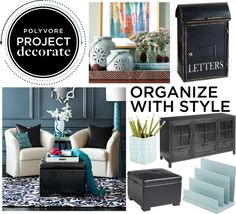 """""""Project Decorate: Black & Blue"""" by companion-for-10 ❤ liked on Polyvore"""